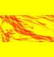 glowing yellow background of red threads and vector image vector image