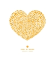 golden lace roses heart silhouette pattern frame vector image vector image