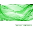 Green wavy abstract background vector image vector image