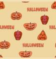 halloween pumpkin seamless warm pattern vector image