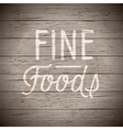 Hand drawn lettering slogan for food vector image vector image