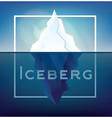 Iceberg on Blue Background vector image