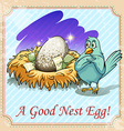 Idiom good nest egg vector image