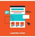 landing page vector image vector image