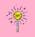 lollipop fizz icon vector image vector image