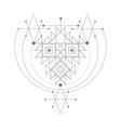 magic alchemy symbol geometric logo