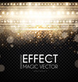 magic light bokeh and fog effect abstract vector image vector image