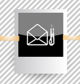 mail with knife vector image vector image