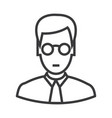 manager with glasses line icon sign vector image