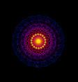 mandala for colourful drawing book yoga logo vector image