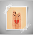 modern colorful vertical love motive photo frame vector image