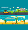 nature tranquil desert and mountain landscape vector image vector image