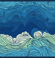 ocean waves pattern 2 vector image vector image