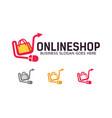online shop logo design vector image vector image