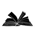 open book symbol icon design beautiful isolated vector image vector image