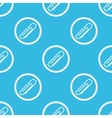 Paperclip sign blue pattern vector image vector image