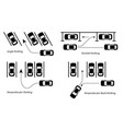 parking methods and ways depict car park in vector image