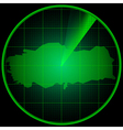 Radar screen with the silhouette of Turkey vector image vector image