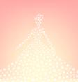 romantic sparkling bride silhouette vector image