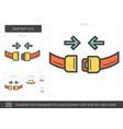seat belt line icon