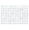 set flat line icons medicine and health vector image vector image