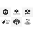 set of vintage table tennis logos and badges vector image