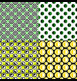 simple repeating pattern set - circle background vector image vector image