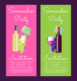 sommelier party invitation on vector image vector image