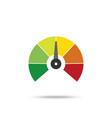 speedometer speedometer icon on white background vector image