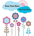 sping flower view with clouds and sun vector image vector image