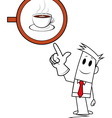 Square guy - coffee shop vector image vector image