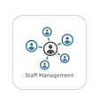 Staff Management Icon Business Concept Flat vector image