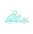 swimming pool icon design vector image