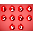 The numbering in the style of Christmas balls vector image