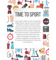 time to sport flat poster vector image vector image