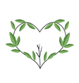 Tree Branch in Heart Shape Wreath vector image vector image