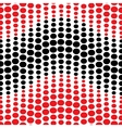 Wave with red and black polka dots seamless vector image vector image