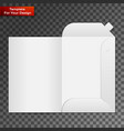 white open folder vector image