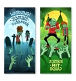 Zombie Banners Set vector image