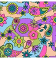 Flowers and paisley pattern colorful vector image