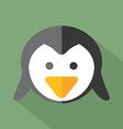 Modern Flat Design Penguin Icon vector image