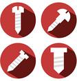 4 screws vector image