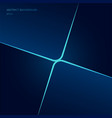 abstract template square shape blue neon glowing vector image vector image