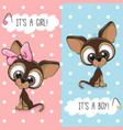 baby shower greeting card with dogs vector image vector image