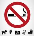 Ban signs vector image