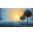 Beautiful Summer Sunset By the Beach vector image vector image