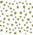 bee cartoon sticker seamless background