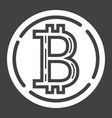bitcoin coin glyph icon business and finance vector image
