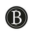 Bitcoin sign black icon on