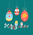 bright greeting happy easter card vector image vector image